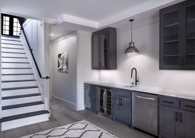 Modern basement wet bar remodel